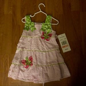Rare editions gingham dress 2T